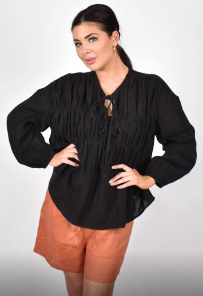 Evie Tiered L/S Top