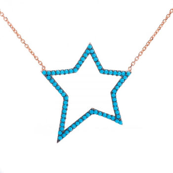 Turquoise star necklace from ' Ibiza Vibes ' Collection