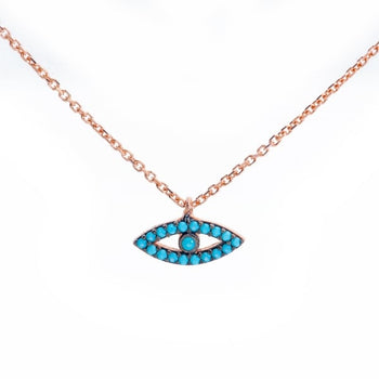 Turquoise Evil Eye Necklace - 'Ibiza Vibes' Collection