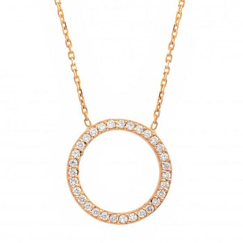 Diamond Circle 18ct Rose Gold ' Circle of Life ' Necklace