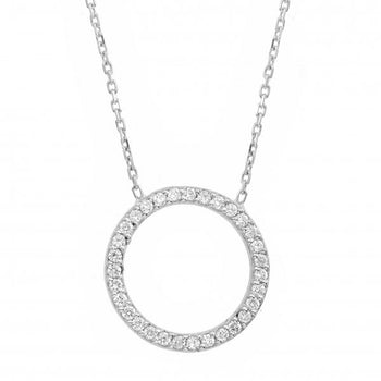 Diamond 18ct White Gold ' Circle of Life ' Necklace