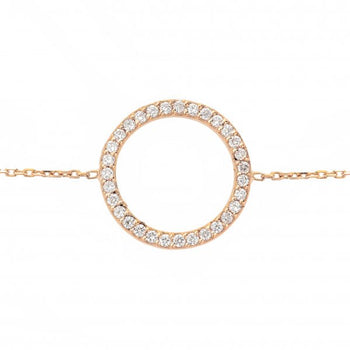 Circle of Life® Bracelet | 18 karat Rose Gold and Diamonds