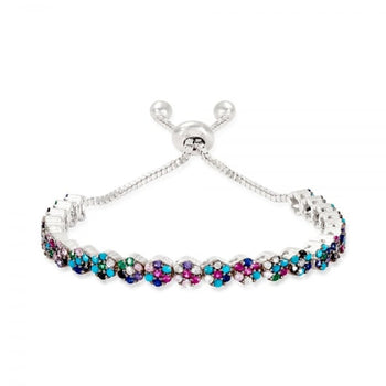 Multi crystal tennis bracelet