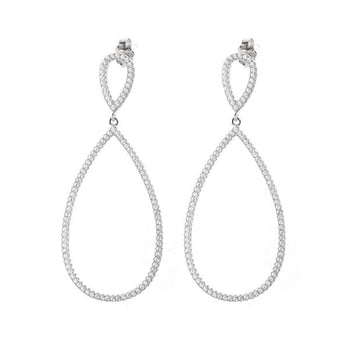 Natalie crystal teardrop drop earrings