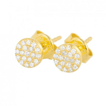 Mini Pave Crystal Disk Studs