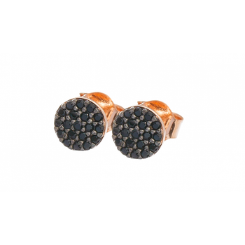 Mini black crystal studs for pierced ears