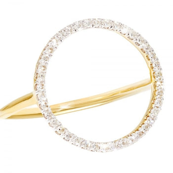 Diamond Katy Circle ring in 9ct Yellow Gold - Various UK Sizes