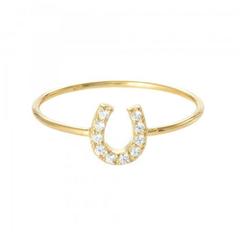 Mini Lucky Horseshoe Ring