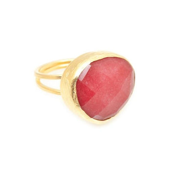 Ruby Ring In 18k Yellow Gold Vermeil