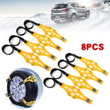Car winter road tires snow chains