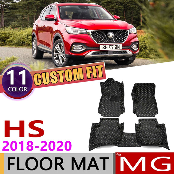 Custom Car Leather Floor Mats for MG HS 5 Seats
