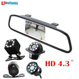 New 2 in 1 Car LED Night Vision Rear View Backup Camera