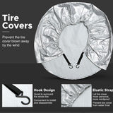 4PCS/Set Aluminum Foil Coated Car Tire Cover