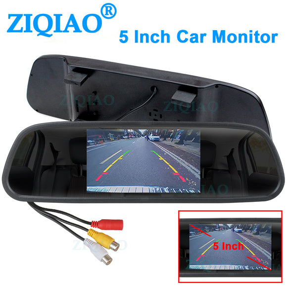 ZIQIAO 5 Inch Car Rearview Mirror Monitor
