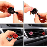 Car Air Vent Decoration Rhinestone Lipstick Clip