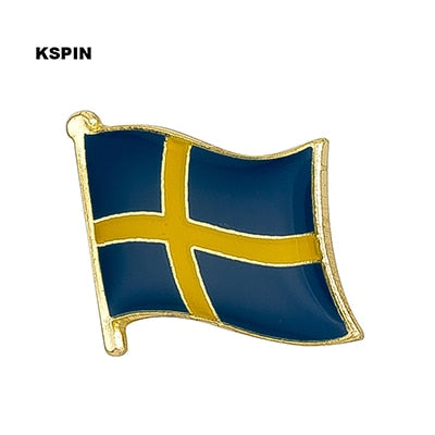 Sweden Metal National Flag Brooch Pin