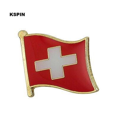Switzerland Metal National Flag Brooch Pin
