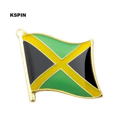 Jamaican Flag Metal National Flag Brooch Pin