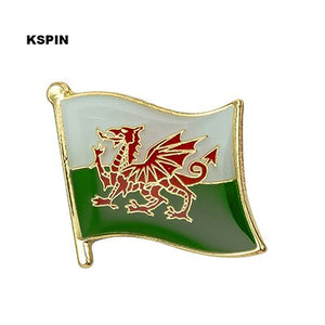 Wales Metal National Flag Brooch Pin