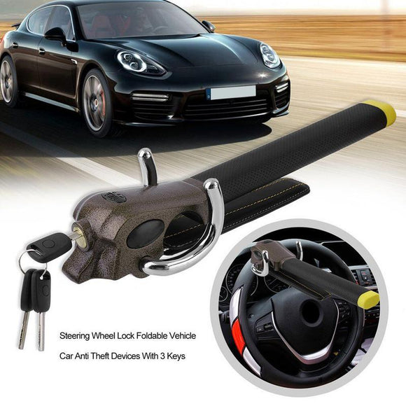 Car Lock Top Mount Steering Wheel Anti-Theft Security