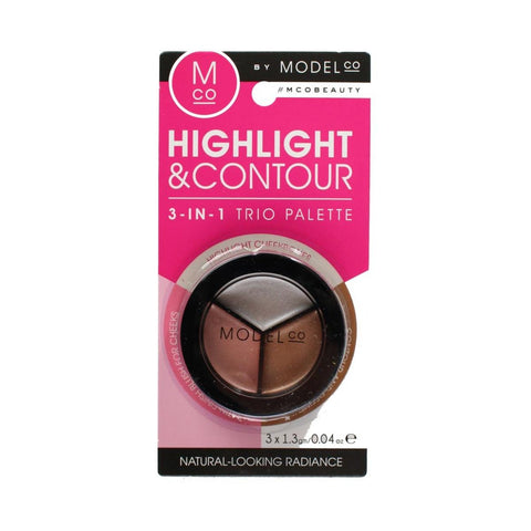 ModelCo Highlight & Contour 3-in-1 Trio Palette Wholesale