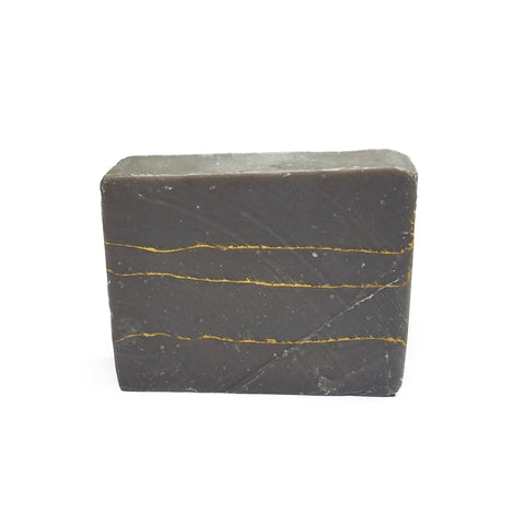 Brown striped soap