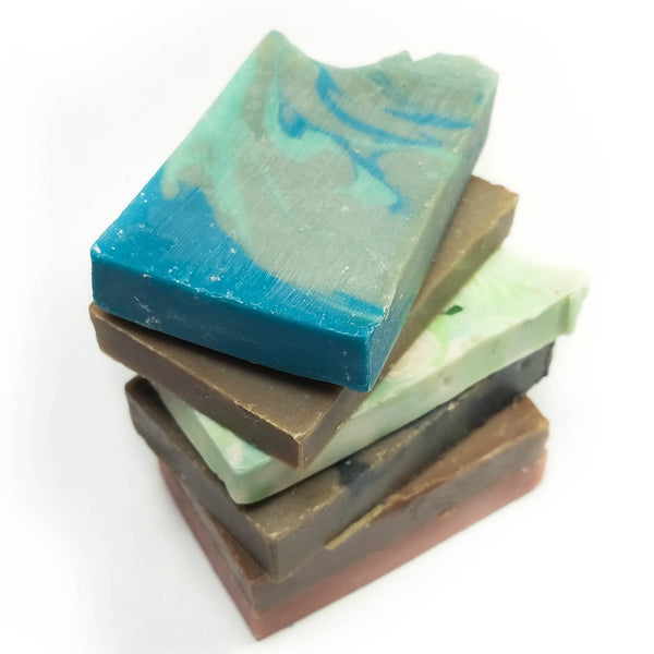 Colorful Bar Soap Ends Stacked