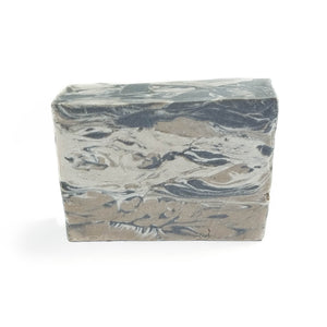 Grey and brown cosmic swirl soap.
