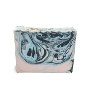 Pink and blue bar soap