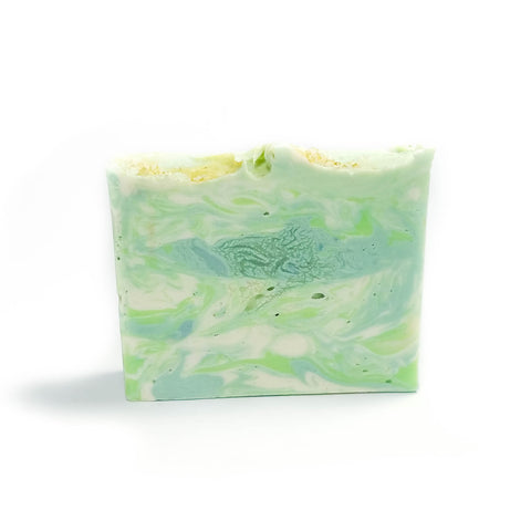 Lime green swirled bar soap