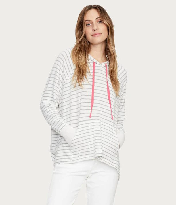 RELAXED STRIPE COZIE HOODIE