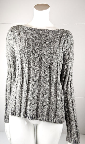 Eileen Fisher Alpaca & Organic Cotton Cableknit Sweater New With Tags