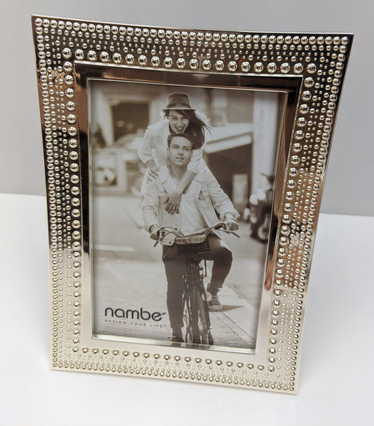 Nambe Textured Silvertone Frame for 5x7 photos