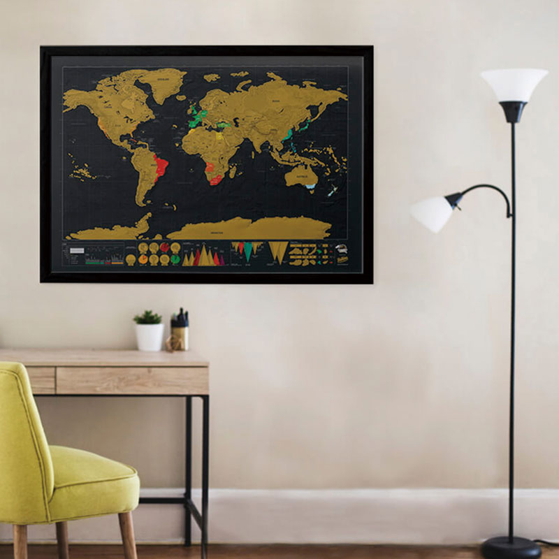 Scratch Off World Map - Deluxe Edition