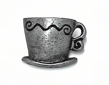 Java Mug Knob Pewter