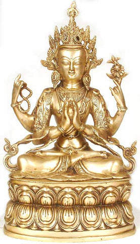 (Tibetan Buddhist Deity) Chenresig or the Four-Armed Avalokiteshvara