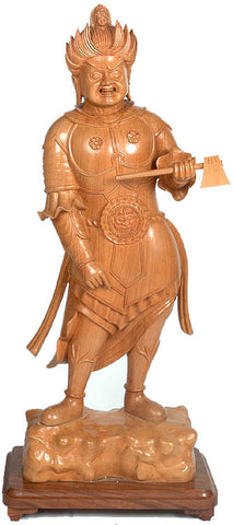 Japanese Wrathful Guardian with Axe