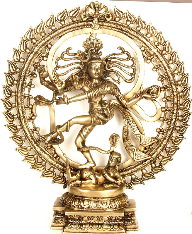 Nataraja Dancing Against The Backdrop of Om