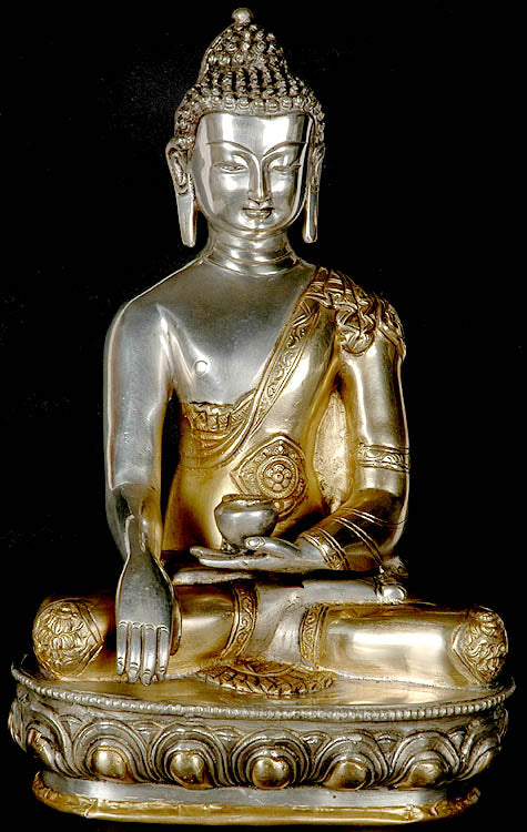 The Union of Samsara and Nirvana (Buddha in the Bhumisparsha Mudra with Ashtamangala Carved on His Robe)
