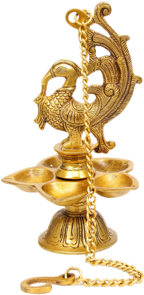 Temple Hanging: Mayura Lamp
