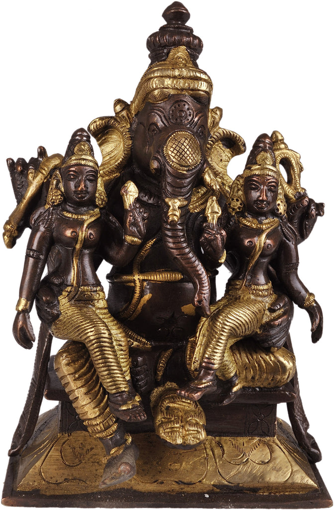Lord Ganesha with Riddhi and Siddhi