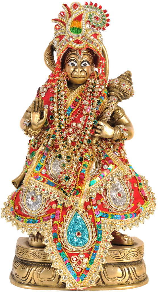 Lord Hanuman with Dress and Jewelry
