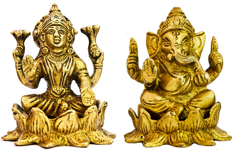 A Pair of Lakshmi Ganesha