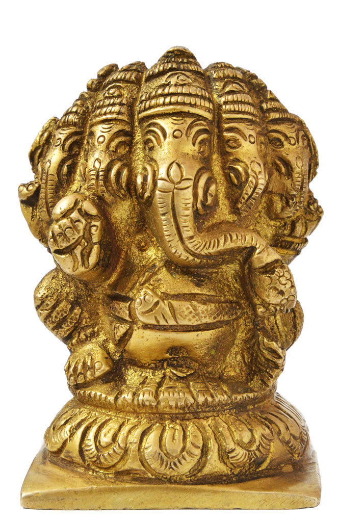 Five Headed Lord Ganesha (Small Statue)