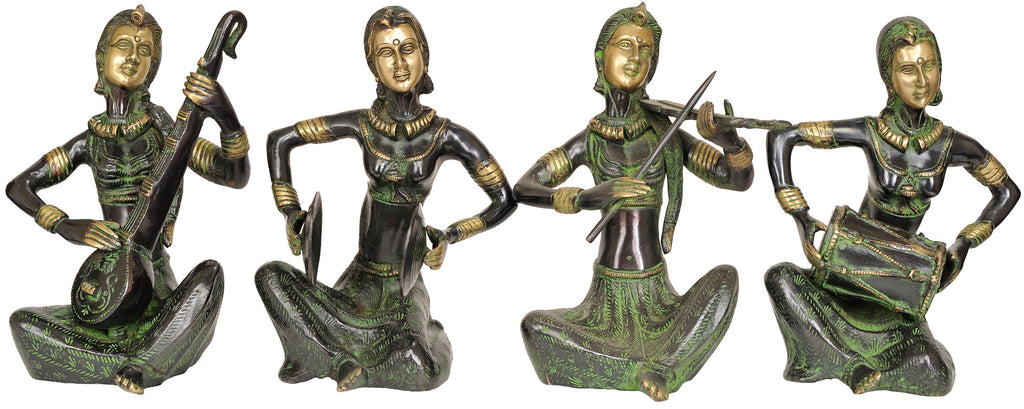 Set of Four Musician Ladies