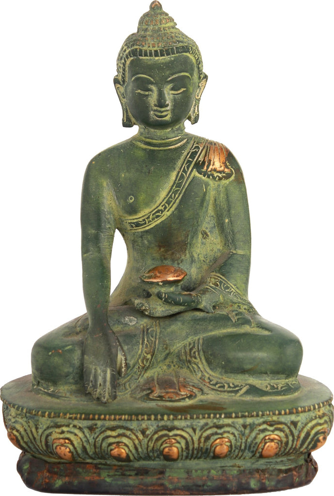 Buddha Seated On A Lotus, His Hand In Bhumisparsha Mudra
