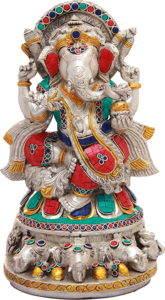 An Inlay Statue of Lord Ganesha