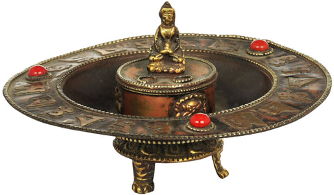 Buddha Incense Holder and Burner From Nepal - Tibetan Buddhist