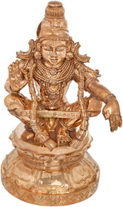 Ayyappan - A Saint Revered as Incarnation of Dharma Bronze Statue
