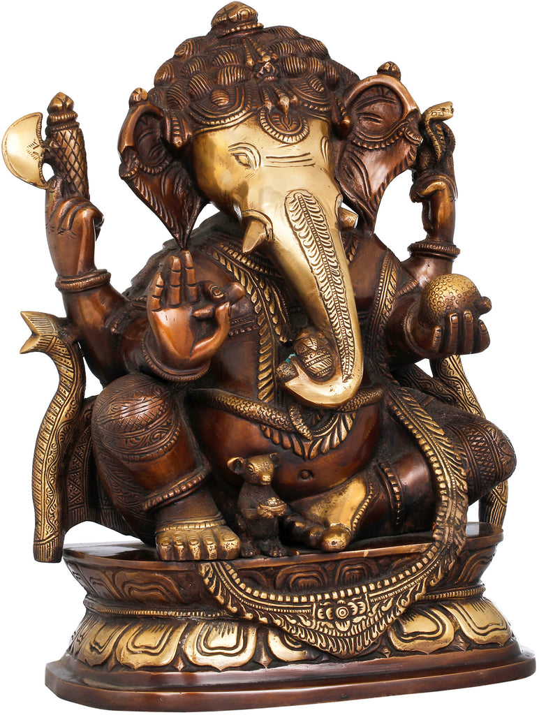 Seated Ganesha, A Modak in His Hand